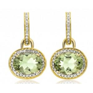 Diamond Circled Amethyst Drops