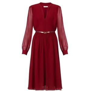 """Sophie Rae"" Burgundy Dress"