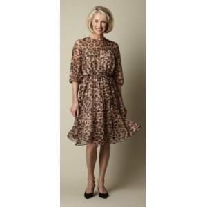 Leopard Print Silk Dress