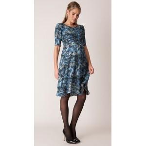 """Florrie"" Blue Floral Maternity Dress"