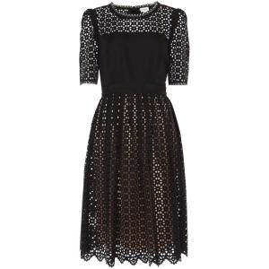 """Templeton"" Laser-Cut Cocktail Dress"