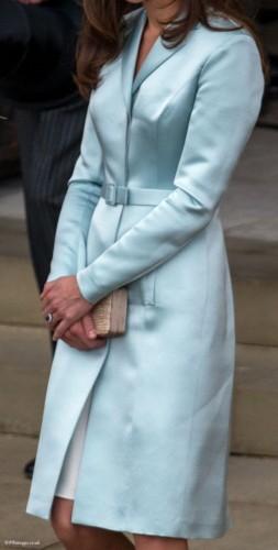Shiny Blue Christopher Kane Coat