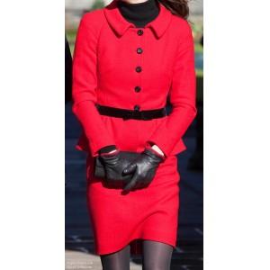 Red Peplum Suit