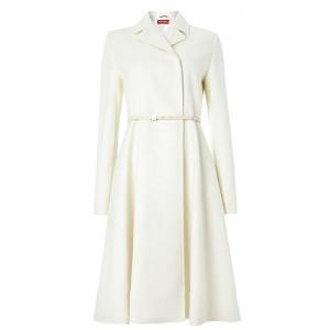 """Villar"" Belted Wool Coat"