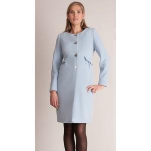 """""""Natasha"""" Misty Blue Maternity Coat"""