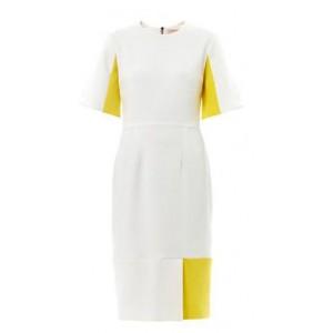 "Custom ""Ryedale"" Yellow Block Dress"