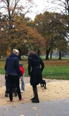 Kate and Lupo Walk in Kensington Gardens
