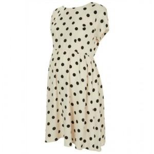 """Florence"" Polka-Dot Maternity Dress"