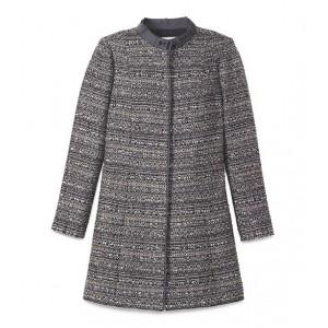 """Bettina"" Metallic Tweed Coat"