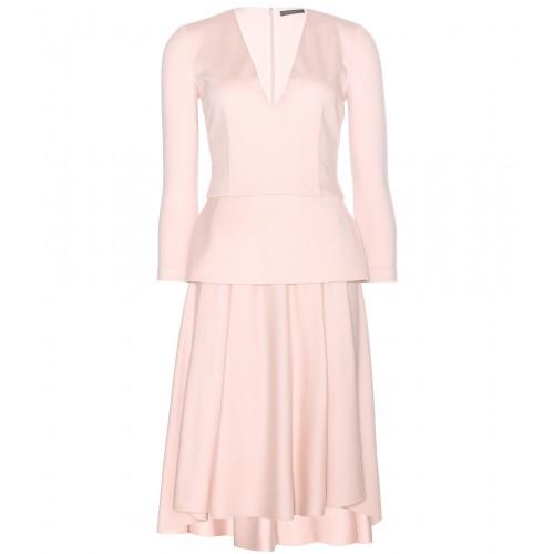 Wool Cashmere Peplum Dress