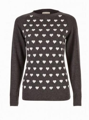 """Delaney"" Heart Sweater Top"