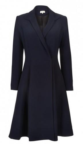 """Chiara"" Wool Trapeze Coat"