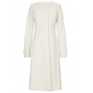 """Princess"" Maternity Coat in Cream"