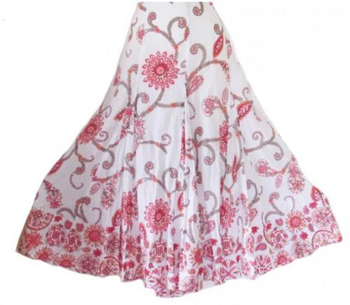 Floral Print Maxi Skirt