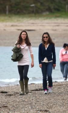 Kate & Pippa Walking the Beach