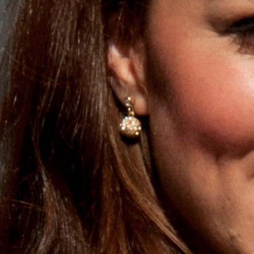 UFO Gold Bubble Earrings