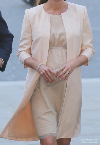 Champagne Lace Maternity Dress