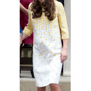 Bespoke Yellow Lindo Wing Dress