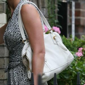 White Medium Boston Bag
