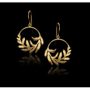 Fern Hoop Earrings
