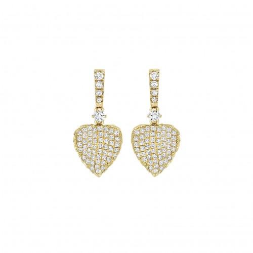 Lauren Yellow Gold Leaf Earrings