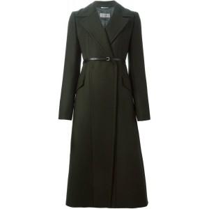 Green Long Belted Coat