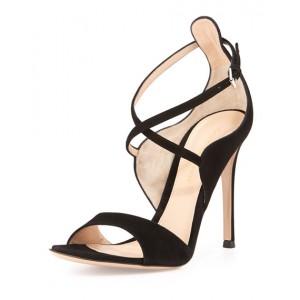"""Sisley"" Crisscross Ankle-Wrap Sandal"