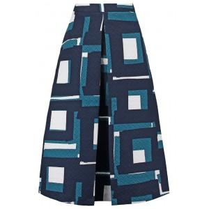 Geo Jacquard Midi Skirt