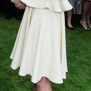 Cream Ruffle Skirt