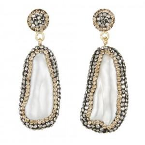 Baroque Pearl Double Sided Earrings