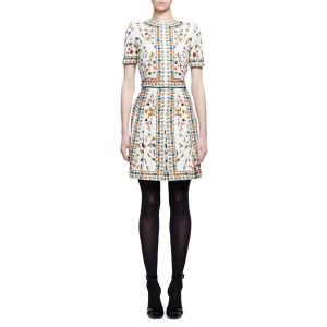 Obsession Print Silk Dress