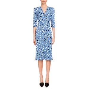 Aimee Polka-Dot Button Front Dress