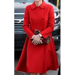 Red Carolina Herrera Coat