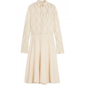 Pointelle-knit Ruffle Dress