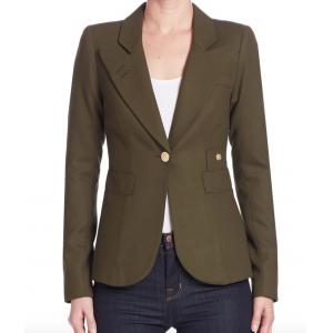 Wool Duchess Blazer (Olive)