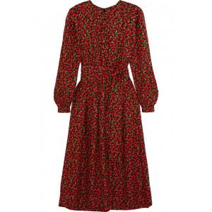 Cai Christmas Silk Dress