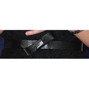UFO Leather Bow Belt