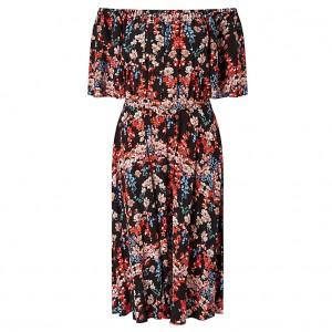 Peony Off-the-Shoulder Floral Dress