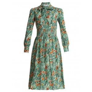 Prada Poppy Print Diana Dress